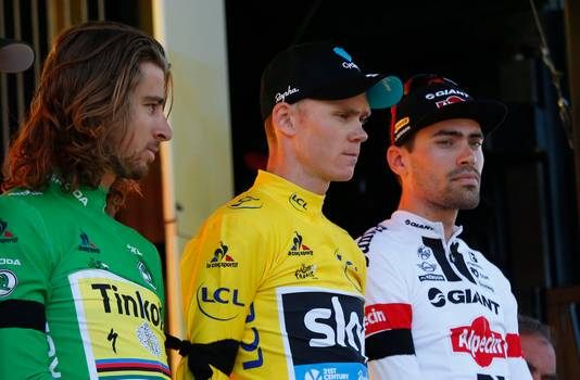 Peter Sagan, Chris Froome en Tom Dumoulin.