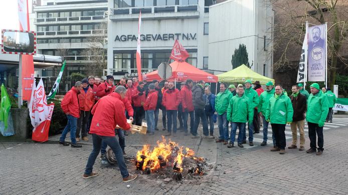 Stakingspiket bij beeldverwerkingsgroep Agfa-Gevaert Mortsel.