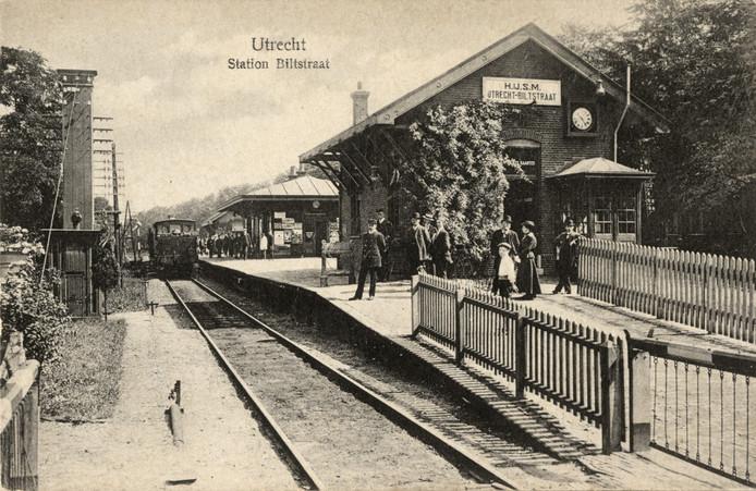 Station Biltstraat in 1908.