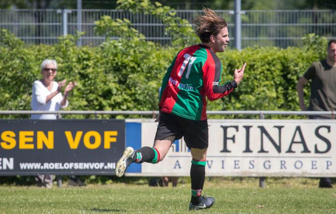 Peer Aldenkamp was tegen SDC'12 belangrijk met een doelpunt en een assist.