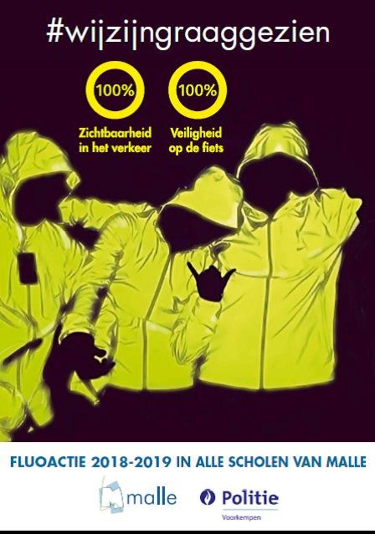 Een beeld van de campagne voor het secundair onderwijs.