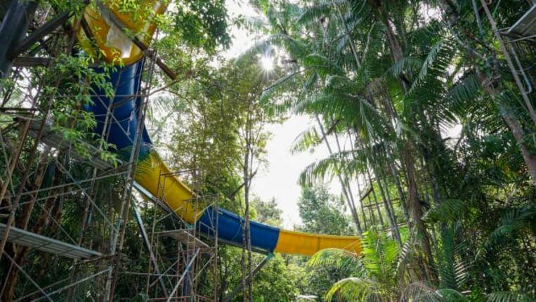 """De CEO van het Escape-waterpark wilde """"een glijbaan bouwen die op zijn minst lang genoeg was om enkele minuten te kunnen glijden""""."""