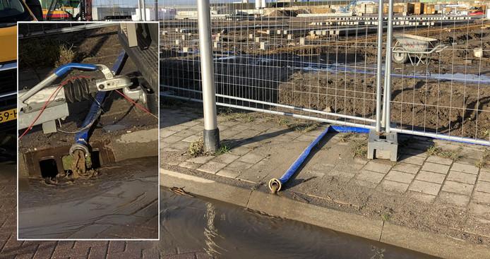 Water wordt geloosd rechtstreeks op straat en in het riool