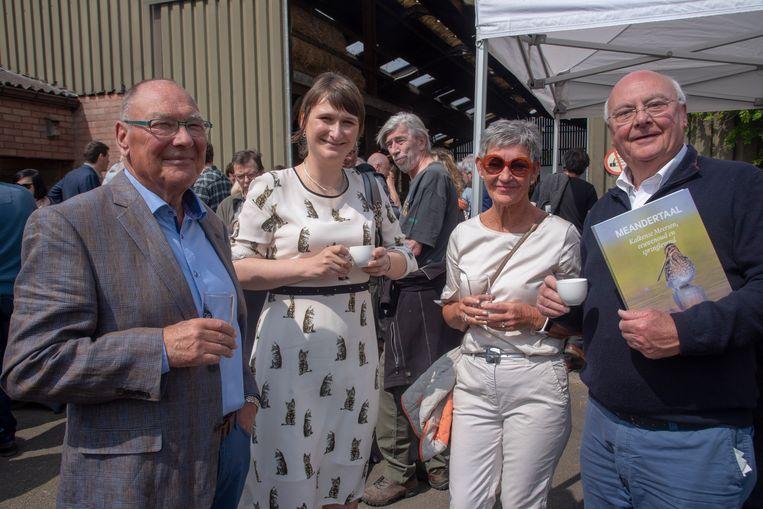 Boekvoorstelling Meandertaal Natuurpunt Scheldeland met onder meer Norbert De Batselier, deputé Leentje Grillaert en ere-deputé Jef Dauwe.