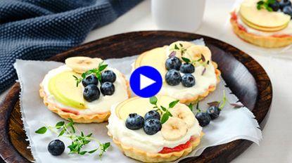 Vijf soorten fruit in dit taartje voor zoetebekjes die ook wat vitamines willen