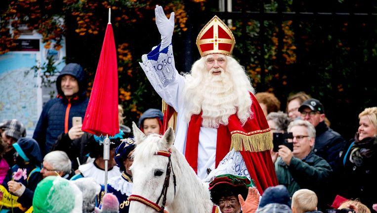 De Sinterklaasintocht vorig jaar in Dokkum. Beeld anp