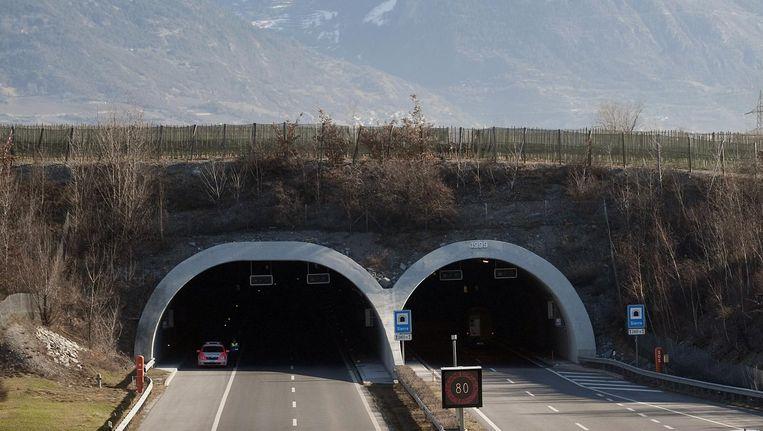De tunnel waar het ongeluk plaatsvond. Beeld afp