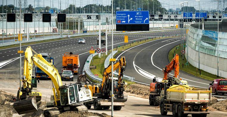 Rijkswaterstaat verricht megaklus bij de A1. Beeld anp