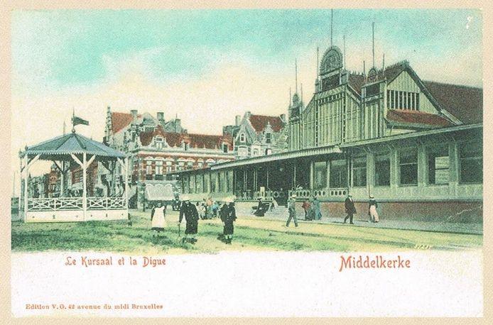 Het eerste casino van Middelkerke in 1891.