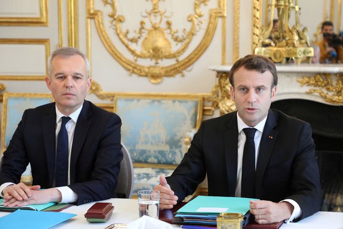 François de Rugy avec le président Macron.