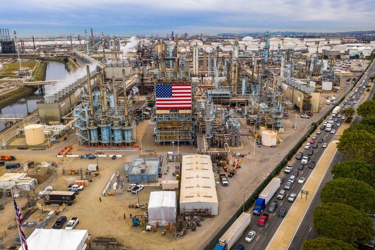 Een fabriek in Carson, Californië.  Beeld AFP