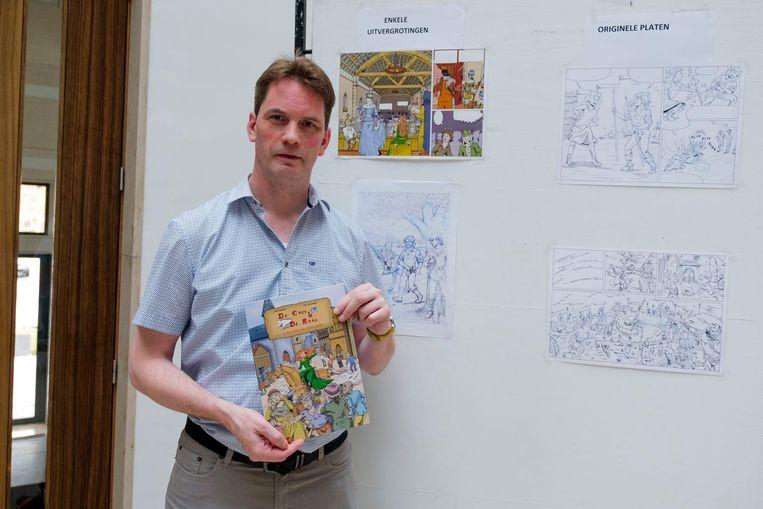 De Nielse tekenaar Kurt Cassauwers heeft een nieuw stripverhaal klaar: 'De eer van een heer'.