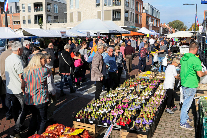 Putte   jaarmarkt en kermis       foto: Pix4Profs/Gerard van Offeren het voorjaar ( bloembollen) te koop op een zonnige najaarsdag.