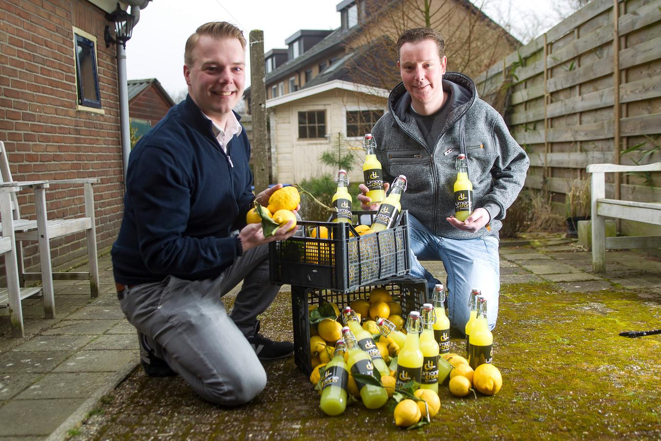 Peter Romeijnders (l) en Rutger Wolters met hun Limone d'Oro.