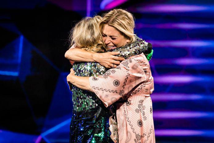 Karen Damen en Kathleen Aerts, ex-leden van K3.