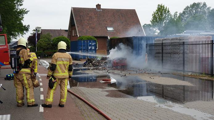 Containerbrand in Haaksbergen