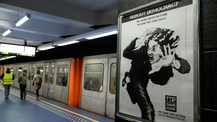 La semaine dernière, une campagne d'affichages a envahi certaines stations du métro bruxellois.