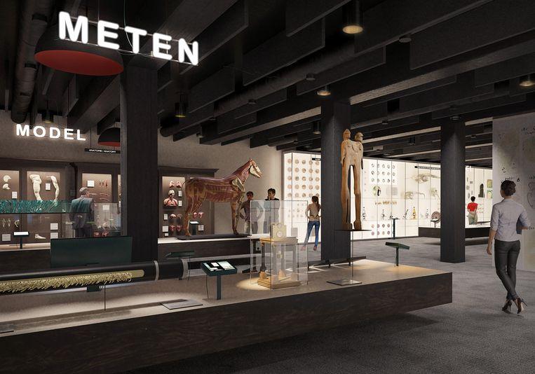 Een simulatie van hoe het interieur van het nieuwe museum eruit zal zien.