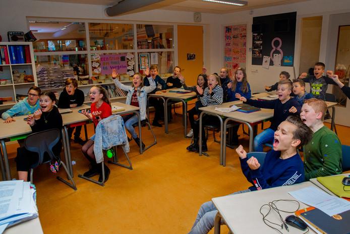 Leerlingen van groep 8 van De Wegwijzer hebben net te horen gekregen dat ze beste van Gelderland zijn.