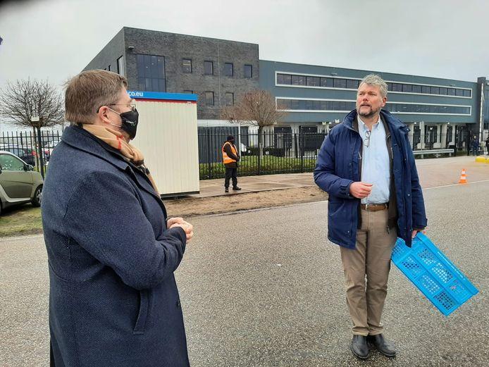 Actievoerder Michael Blok in gesprek met Michiel Heller van Movianto.