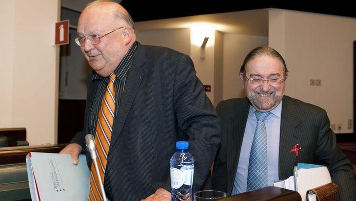 Oud-ministers van Verkeer Jean Luc Dehaene en Herman De Croo