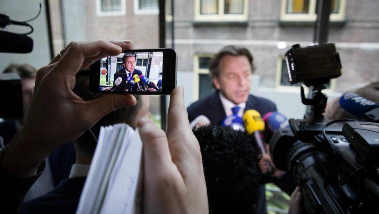 Koenders na afloopt van het debat over diplomatieke immuniteit. Beeld null