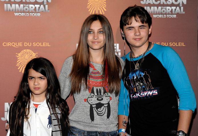 Les trois enfants de Mickael Jackson, en 2010.