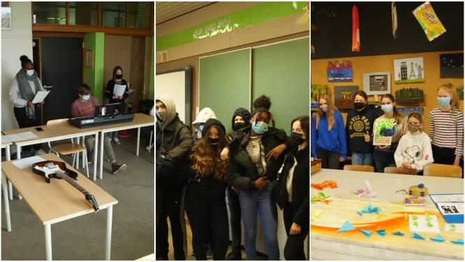 """Tachtig leerlingen van Campus De Reynaert genieten van 'Kunstkuur' met de Stedelijke Academies: """"De wisselwerking is een enorme meerwaarde"""""""