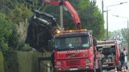 Wagen op spectaculaire wijze getakeld na ongeval