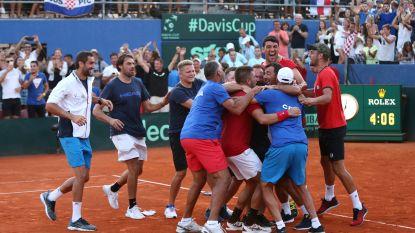 Kroatië plaatst zich voor Davis Cup-finale tegen Frankrijk