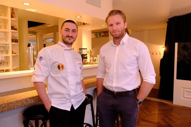 Maxim Montens (r.) met kok Francesco De Candia.