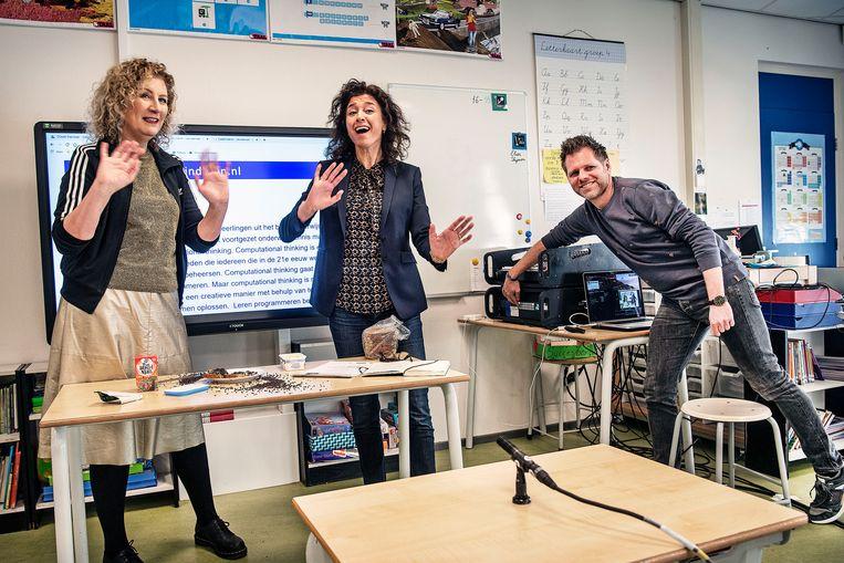 Leraressen noemen zichzelf steeds vaker leraar. Beeld Guus Dubbelman / de Volkskrant