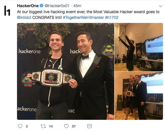 Inti wint de hackwedstrijd