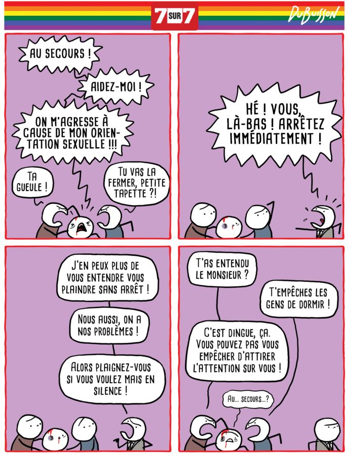 Le dessin de Marc Dubuisson pour la journée internationale contre l'homophobie, 17 mai 2019