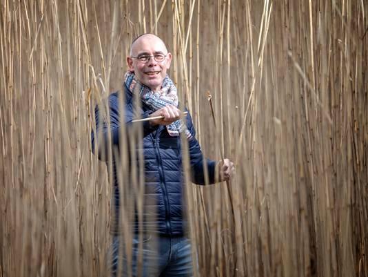 Govert-Jan van Gilst tussen het olifantsgras in Lijnden.