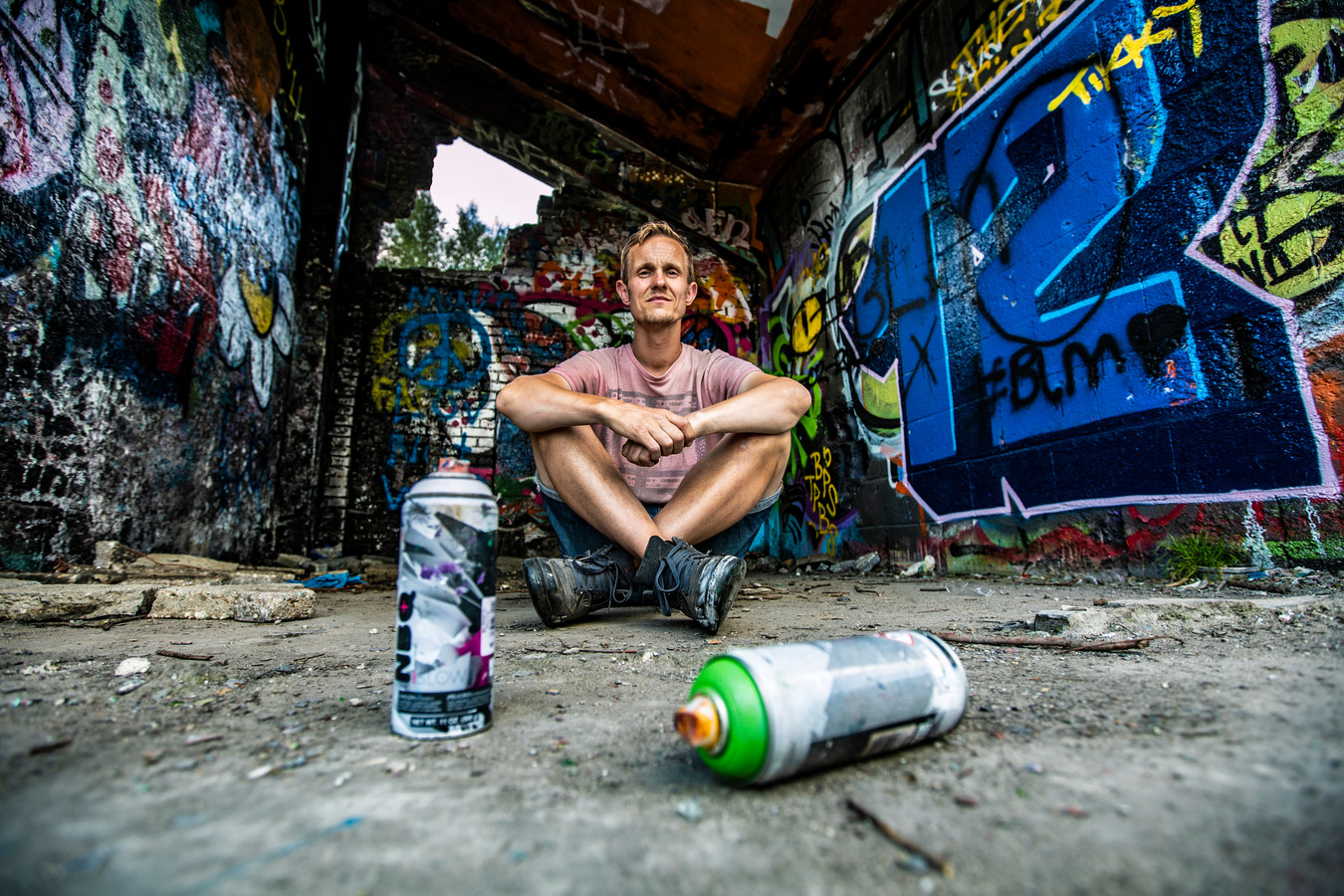 Tim, die eerste illegaal graffiti spoot maar nu niet meer.