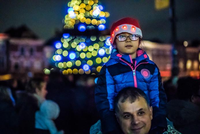 Lichtjesavond 2018 in Delft op het Marktplein