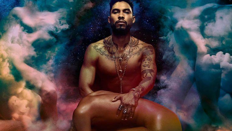 Detail van de cover van Miguels nieuwste album, Wildheart. 'Ik ben al bijna tien jaar met dezelfde vriendin, maar ik moet mijn fantasieën wel ergens kwijt. In mijn muziek dus.' Beeld Sony