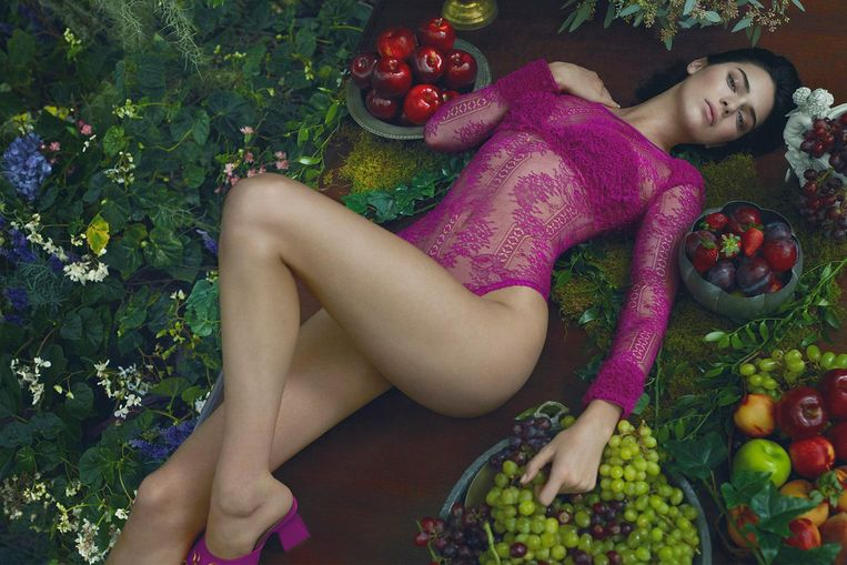 Kendall Jenner in een campagne voor La Perla.