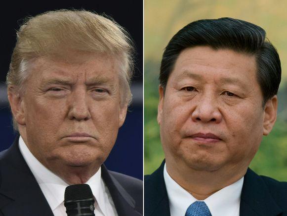 De Amerikaanse president Donald Trump en de Chinese leider Xi Jinping.