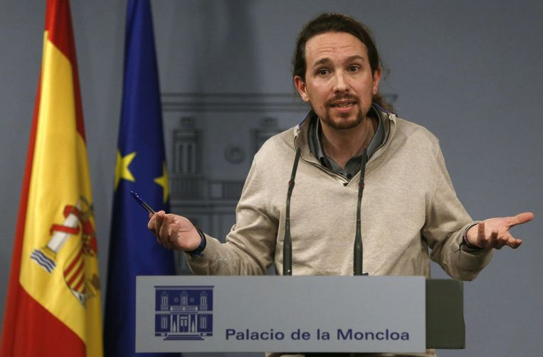Pablo Iglesias, partijleider van Podemos Beeld null