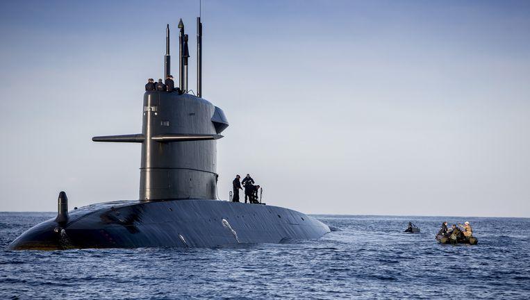 Een onderzeeër van het Walrus-type, de Bruinvis. Beeld MAARTJE ROOS / defensie