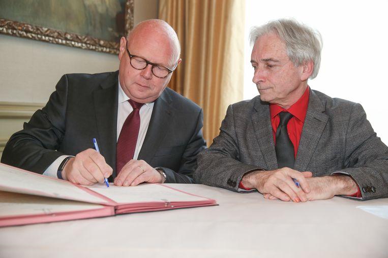 Eedaflegging burgemeester Wetteren, Alain Pardaen.