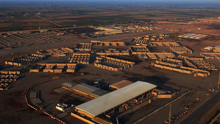 Luchtbeeld van de luchtmachtbasis van Balad.