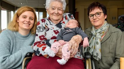 Tweede viergeslacht in de familie na geboorte Ellis
