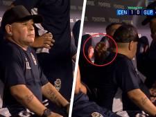 Une vidéo de Maradona sur son banc intrigue les réseaux sociaux