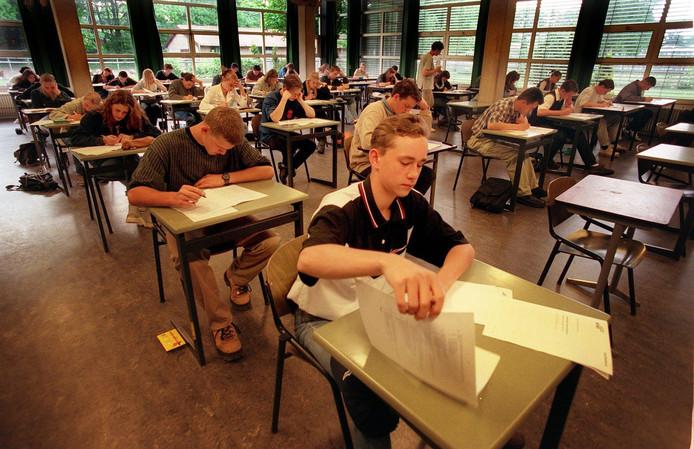 Eerder waren er al eindexamens op het vbo, zoals hier op de Groenschool in Nijmegen.