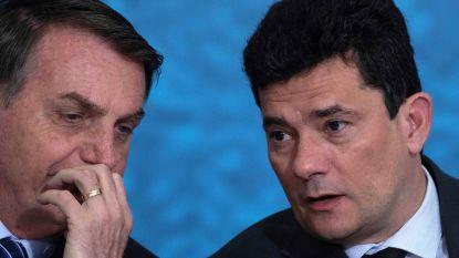 Stevige klap voor Braziliaanse president Bolsonaro: minister van Justitie stapt op