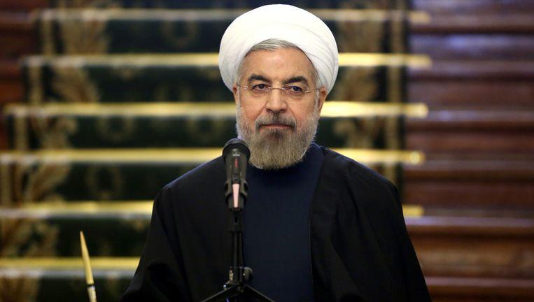 De Iraanse president Hassan Rohani. Beeld ap