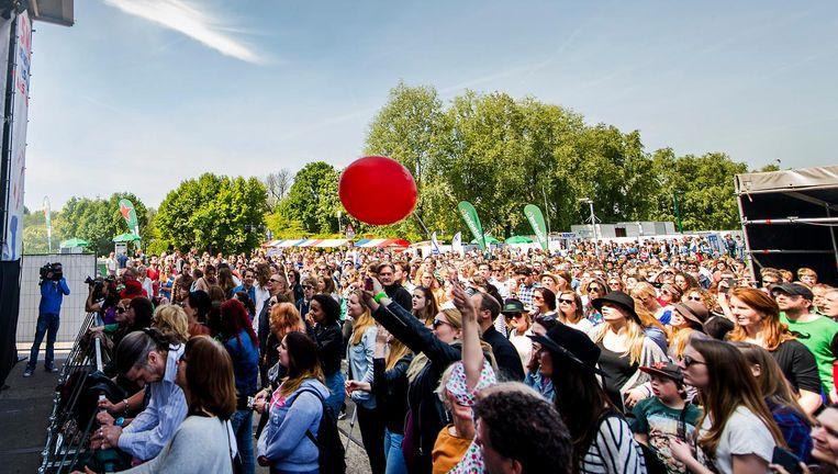 In het Westerpark wordt het grootste bevrijdingsfestival van de stad gevierd Beeld ANP